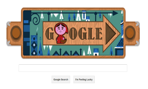 Google Doodles Little Red Riding Hood of Grimm's Fairy Tales