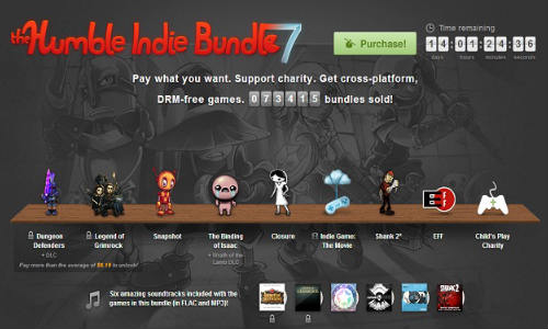 Humble Indie Bundle 7 Out Now: Package Includes 6 Games, 1 Movie