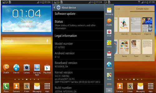 Samsung Galaxy Note 2 Android 4.1.2 Jelly Bean Update Now in India
