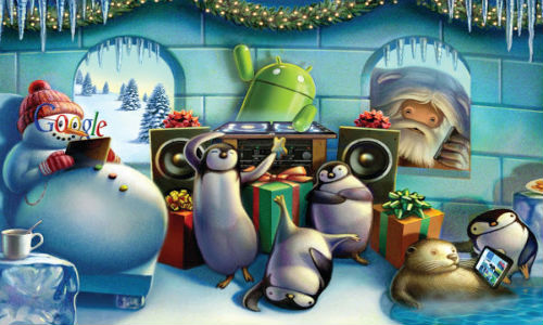 Google Unveils Christmas Themed Android Wallpapers:Did You Downloaded?