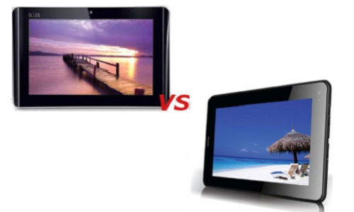Intex iBuddy Connect vs iBall iSlide i6516 Android ICS Tablets