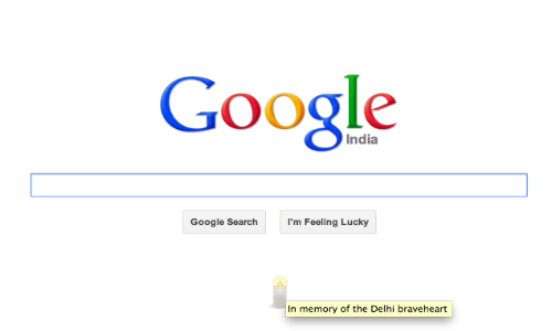 Google India Lit a Candle to Pay Tribute to Delhi Brave-Heart