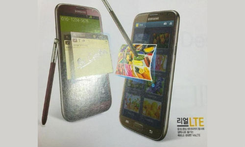 Samsung Galaxy Note 2 in Ruby Wine and Amber Brown Surfaces Online