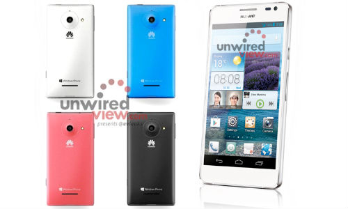 Huawei Ascend Mate, Ascend W1 and Ascend D2 Press Shots Leaked