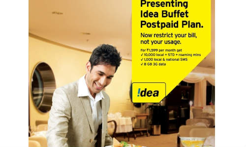 Idea Cellular 3G Postpaid Buffet Plans Introduced for Rs 899