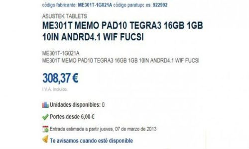 ASUS ME301T MemoPad: 10-Inch Android Jelly Bean Tablet Leaks Online