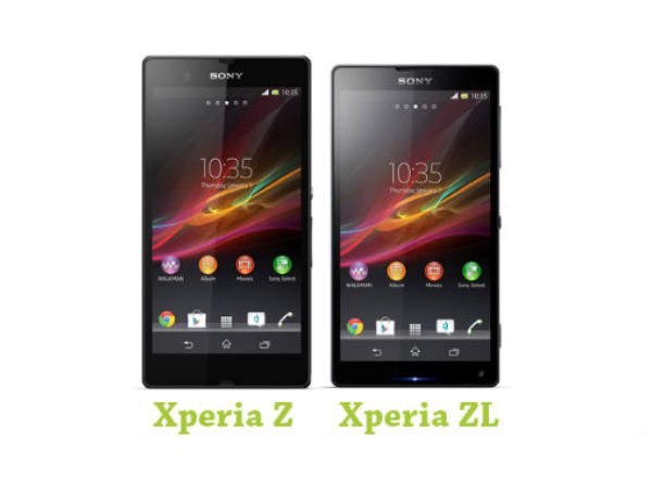 Sony Xperia Z and ZL Smartphones