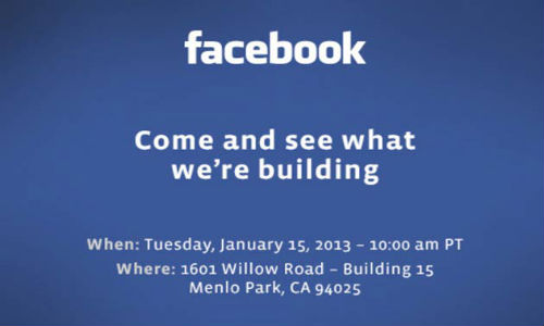 Facebook Sends Out Invite for Media Event On January 15