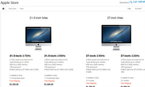 Apple 27-inch iMac Faces Supply Shortage