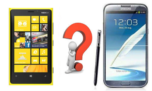 Nokia Lumia 920 vs Samsung Galaxy Note 2: Specs Shootout