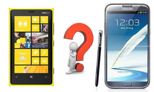 Nokia Lumia 920 Vs Samsung Galaxy Note 2 Specs Shootout