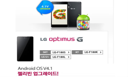 LG Optimus G: Android 4.1.2 Jelly Bean Update in South Korea