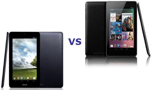 Asus MeMO Pad vs Nexus 7: Comparison