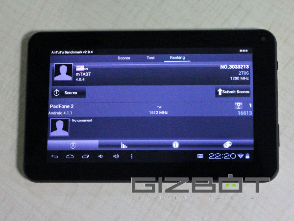 Mercury mTab 7 Review Images