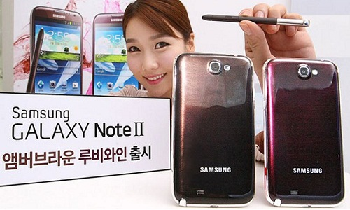 Samsung Galaxy Note 2: Ruby Wine and Amber Brown Now Official
