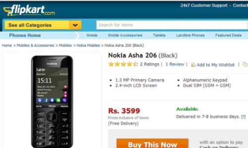 Nokia 206: Dual SIM Phone Spotted Online at Rs 3,499