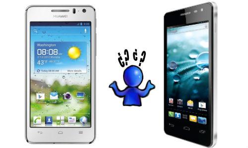 Huawei Ascend G600 vs Spice Stellar Virtuoso: 4.5 Inch Handsets Fight
