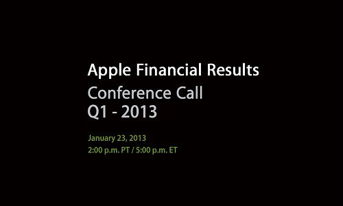 Apple to Announce Q1 2013 Earnings Today