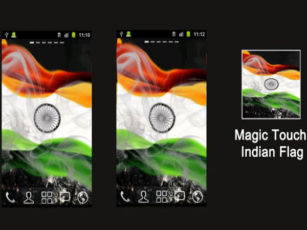 Magic Touch Indian Flag