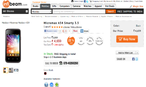 Micromax A54 smarty 3.5 Spotted at Rs 4.5K: A Lava Iris N350 Rival?