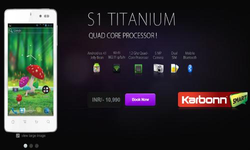 Karbonn Smart Titanium 1 Dual SIM Jelly Bean Quad Core Smartphone