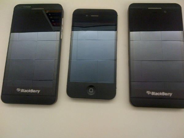 BlackBerry X10 Z10 and iPhone 5