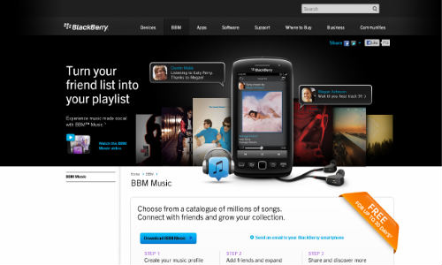 RIM to Introduce Music Store in India Alongside BlackBerry 10