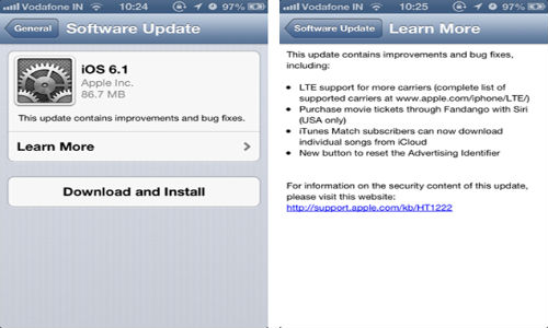 Apple Updates iOS to 6.1: A Look At New Features Of The Latest OS
