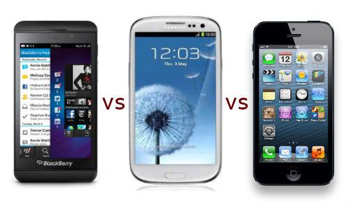 BlackBerry Z10 vs Samsung Galaxy S3 vs Apple iPhone 5: Champions Clash