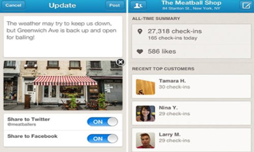 Foursquare Launches New iOS App For Merchandisers
