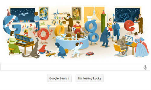 New Year 2013: Google Posts Doodle Wishing Visitors