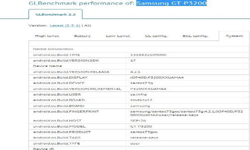 Samsung Galaxy Tab 3 P3200 Leaks Again On Benchmarks: A New Nexus 7