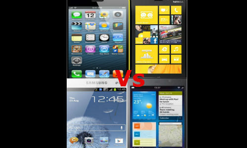Battefield OS: BB10 vs iOS 6 vs Jelly Bean vs WP8