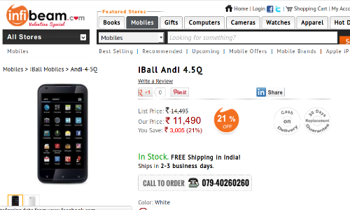 iBall Andi 4.5q: Dual SIM Jelly Bean Smartphone Worth A Purchase?