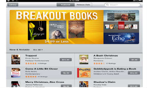 Breakout Books: Apple iBookstore Gets New Section to Promote Indie Aut