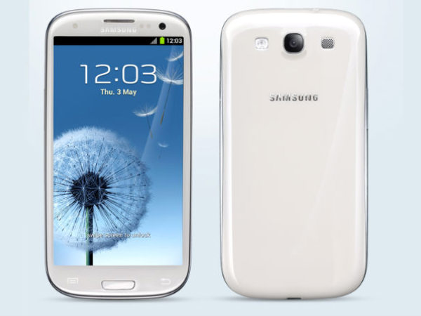 Samsung Galaxy S3 (Marble White, with 16GB):