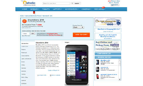 BlackBerry Z10 Pre Booking Starts in India at Rs 45000