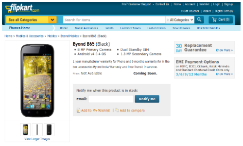 Byond B65 Android ICS Phablet Spotted Online: Specs, Price & More