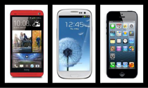 HTC One vs Samsung Galaxy S3 vs Apple iPhone 5: Specs Shootout