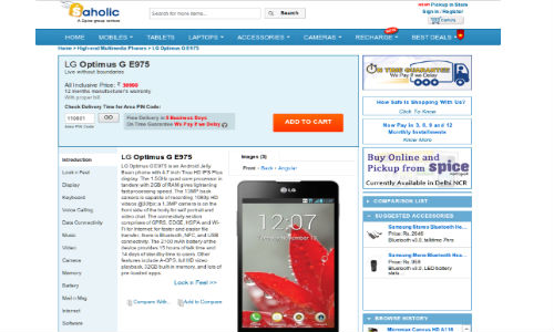 Optimus G Available Online at Rs 30,000: LG Looking to Outdo BB Z10?