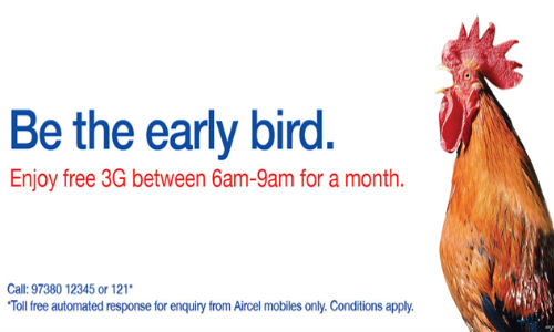 Aircel 3G Morning: New Plan Allows Unlimited 3 Hours 3G Internet