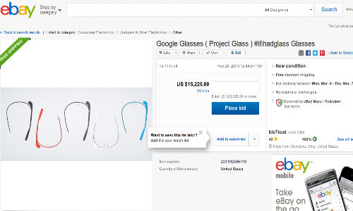 Google Glass to Release 2013 Year End, Hits eBay at Rs 820094