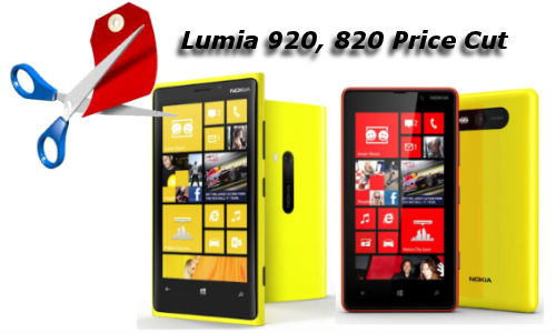 Nokia Lumia 920, 820 Receive Price Cut in India