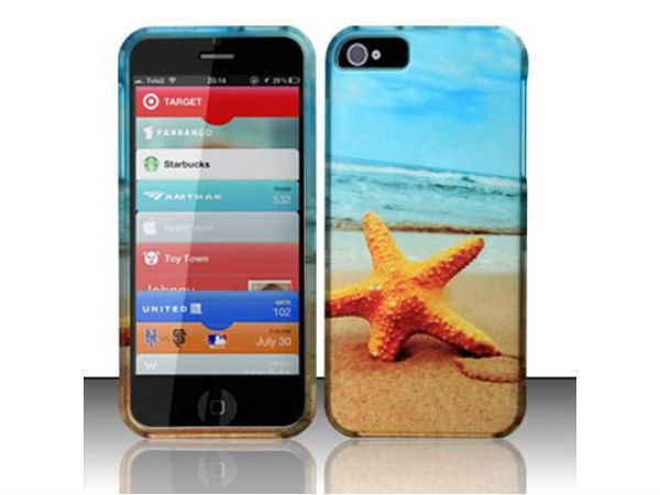 Sand Beach Rubberized Hard Cover Phone Case for iPhone 5 Accessory NEW