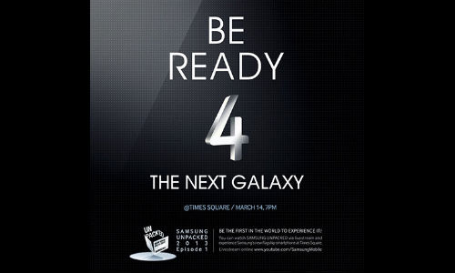 Samsung Already Invited to Your Event Unpacked in Times Square on March 14