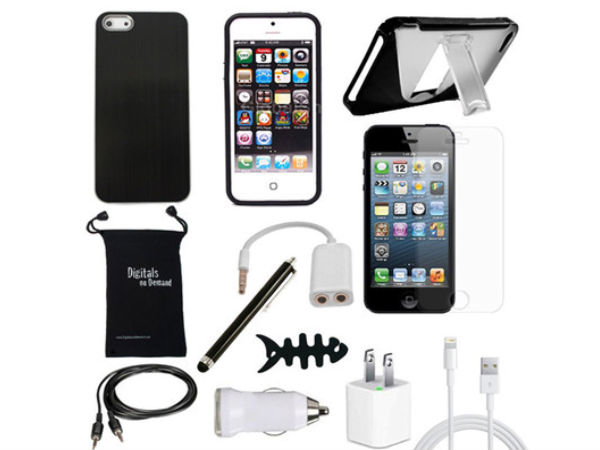 12-ITEM ACCESSORY BUNDLE FOR NEW APPLE IPHONE 5 5TH 5G COVER CASE SKIN CHARGER: