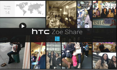 Zoe Share Feature: HTC One Collage Photo and Video Samples