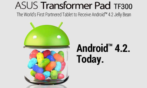 Asus Transfromer Pad TF 300T Gets Android 4.2 Jelly Bean Update