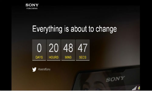 Sony Teases Xperia Z with Countdown Clock