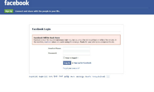 Facebook Website Was Down in India for Last 20 Minutes, Now Working